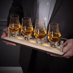 Scotch Tasting Set Whiskey Gifts Bar Tray Accessories Personalized Items Bars