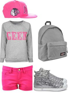 Pink, blackhawks, and converse. this is too perfect.