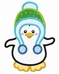 Penguin 2 Applique - 3 Sizes!   Winter   Machine Embroidery Designs   SWAKembroidery.com Fun Stitch
