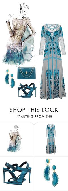 """""""Untitled #1271"""" by christawallace ❤ liked on Polyvore featuring Matthew Williamson, Temperley London, Burberry, BaubleBar and Bulgari"""