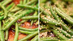 Asian Style Sesame and Garlic Green Beans    A Quick and Flavorful Side Dish // wishfulchef.com