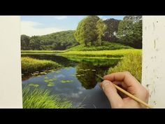 How To Paint A River Time Lapse | Oil Painting Tutorial - YouTube