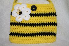 Bumble Bee inspired child size purse. Crochet. by TracyplusCrochet, $15.00