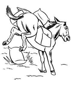 Farm animal coloring page | Pack Mule