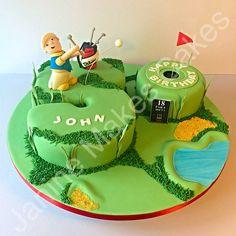 50th Golf Cake Golf Cakes, 50th Birthday, Birthday Cake, Number Cakes, Cake Ideas, Desserts, Food, Food Cakes, Tailgate Desserts