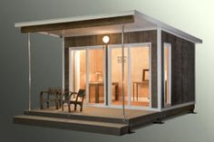 Zip Series    At 120 sf, the ZipCabin is permit-exempt in most areas  Clean, modern, and versatile design  Quick, easy, and hassle-free assembly  Integrated raised foundation with built-in covered deck  Larger sizes are available  Perfect for your backyard office, exercise room, art studio etc