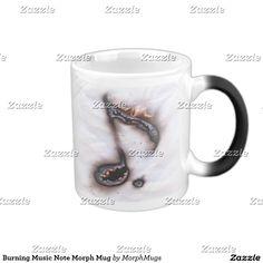 Burning Music Note Morph Mug
