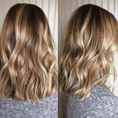 "We're loving this sun-kissed balayage created by Here's her process/formula ✨ ""Wella Freelights using balayage Permed Hairstyles, Pretty Hairstyles, Body Wave Perm, Beach Wave Perm, Beach Waves, Balayage Technique, Color Rubio, Hair Highlights, Hair Day"