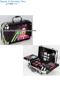 Color:BlackHigh quality case with reinforced steel corners for extra durability. Beautiful retro girl design. >> Mirror. >> Under the lid. >> 24 x Eyeshadow. >> 4 x Blush. >> 6 x Lipstick. >> 2 x Lipgloss. >> 12 x Lip Balm. >> 2 x Nail Polish. >> 1 x Face Brush. >> 1 x Eyeshadow Brush. >> 1 x Lip Brush. >> 1 x Smudge Brush. >> 1 x Tweezer. >> 1 x Nail Filer. >> 1 x Nail and Toe Separator. >> 1... #makeupsets