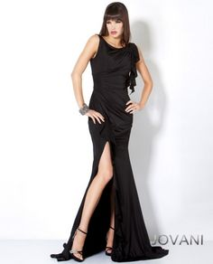 Ruched Floor Length Gown, Style 5084