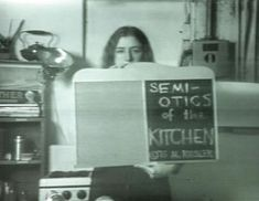 Semiotics of the Kitchen, a feminist video performance by Martha Rosler