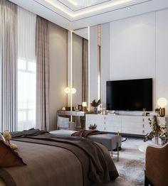 Bedroom Tv Wall, Master Bedroom Interior, Modern Master Bedroom, Bedroom Furniture Design, Small Room Bedroom, Home Decor Bedroom, Bedroom With Tv, Modern Luxury Bedroom, Luxurious Bedrooms