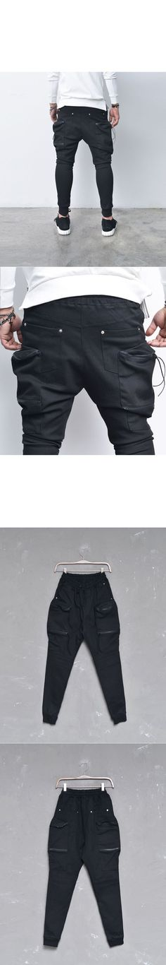 Double Zip Big Cargo Baggy Jogger-Sweatpants 244 - GUYLOOK