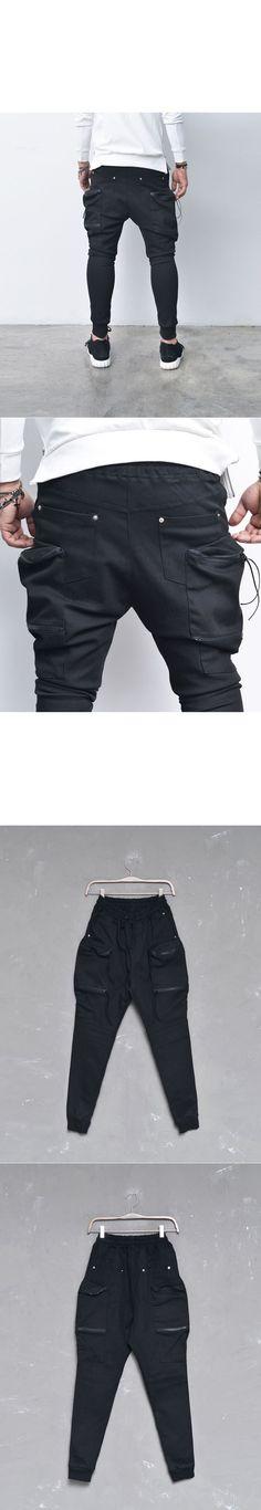 Double Zip Big Cargo Baggy Jogger-Sweatpants 244 - GUYLOOK