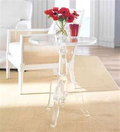 lucite furniture Lucite Furniture, Home Bar Furniture, Acrylic Furniture, Art Deco Furniture, Glass Furniture, Acrylic Side Table, Lucite Coffee Tables, Lucite Table, Valance Window Treatments