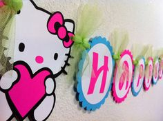 Hello Kitty Birthday Banner.