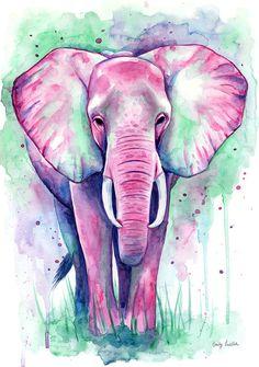 Resultado de imagen para elefante acuarelas