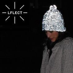 LFLECT, reflective knitwear. Cozy wooly hat. Fashionable reflective clothing, £69