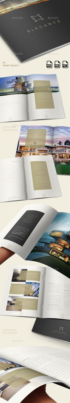 Elegance Luxury Brochure - INDD+PSD  #business #elegant #house • Available here → http://graphicriver.net/item/elegance-luxury-brochure-inddpsd/15395285?s_rank=202&ref=pxcr