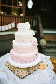 blush ruffle cake   Driver Photo   Glamour  Grace