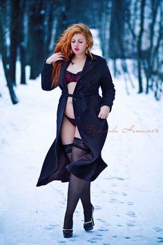 Russian plus size model Katalina Gorskikh by Natalia Bezrukova