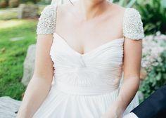 Reem Acra, Olivia Jewel Sleeve Silk Size 8 Wedding Dress For Sale | Still White Australia