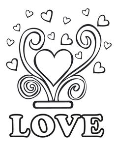 Wedding Love - Free Printable Coloring Pages