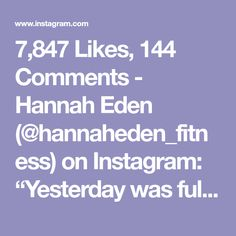 "7,847 Likes, 144 Comments - Hannah Eden (@hannaheden_fitness) on Instagram: ""Yesterday was full of Champagne 🥂 This morning was full of FITNESS! Woke up early with my bro &…"""