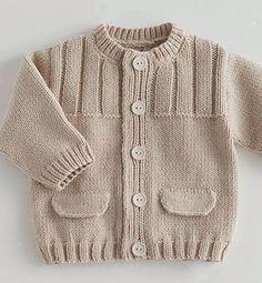 39 most showy towel edge needlework models - Babykleidung Baby Knitting Patterns, Baby Sweater Patterns, Baby Cardigan Knitting Pattern, Baby Boy Knitting, Knit Baby Sweaters, Knitted Baby Clothes, Knitting For Kids, Knitting Designs, Baby Patterns