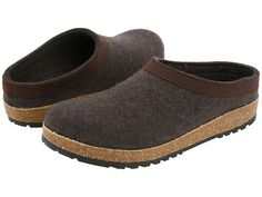 JULIA - 2ND ROUND Haflinger GZL Leather Trim Grizzly Smoke Brown - Zappos.com Free Shipping BOTH Ways