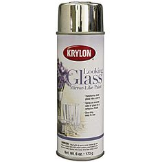 This Looking Glass spray paint by Krylon transforms clear glass into a mirror with this easy-to-use spray paint. This spray paint can be used on just about any clear glass object including vases, tabletops, jars, planters and picture frames.