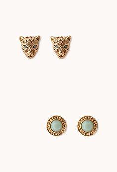 Call of the Wild Panther Stud Set | FOREVER21 - 1000072479