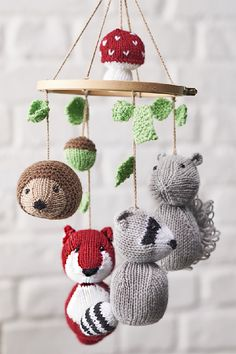 Free knitting pattern for Woodland Tales Animal Mobile by Amanda Berry - The pat. Knitting , Free knitting pattern for Woodland Tales Animal Mobile by Amanda Berry - The pat. Free knitting pattern for Woodland Tales Animal Mobile by Amanda B. Baby Knitting Patterns, Knitting Terms, Free Knitting, Knitting Projects, Crochet Patterns, Knitting Ideas, Stitch Patterns, Sock Knitting, Knitting Tutorials