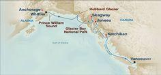 Cruising Alaska & the western coast of Canada.