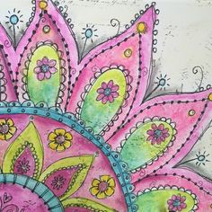 Hello my fellow artsy friends! Jill here with a fun and bright summery bloom on canvas using Gelatos® Colors from Faber-Castell. Do you love to doodle