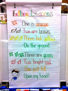 Lots of possibilities with this cute fall poem!