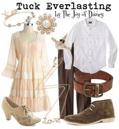 Couple outfits inspired by Winnie and Jesse from the Disney version of Tuck Everlasting!
