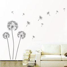 Dandelion wall decal,flow in the wind wall decal,dandelion wall art,wall stickers,. $13.00, via Etsy.