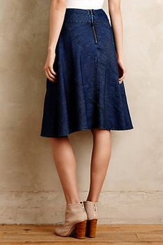fd1ad0ad9448 Denim Circle Skirt Petite Outfits