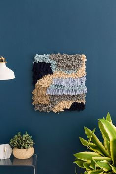 Update Your Wall Decor With This Weaving Hack via Brit + Co Easy Crafts, Diy And Crafts, Basket Weaving Patterns, Types Of Weaving, Simple Wall Art, Macrame Plant Hangers, Art For Kids, Diy Projects, Crochet Projects