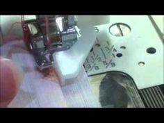 l'ourlet invisible avec le pied à ourlet invisible. en français - YouTube