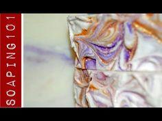 Making Mica Oil Swirled Tops on Soap