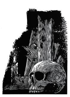 - Ramon Rodrigues - Xilogravura Woodcut Art, Linocut Prints, Art Prints, Engraving Printing, Wood Engraving, Dark Art Illustrations, Illustration Art, Dragon Tattoo Drawing, Scratchboard Art