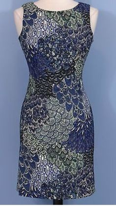 NWT Connected Apparel Blue Paisley Mini Dress Size 12 #ConnectedApparel #Sheath #WeartoWork