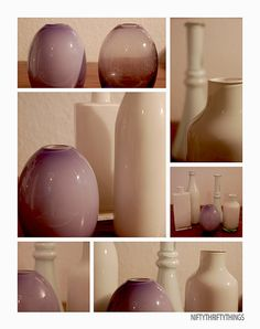how to color glass vases