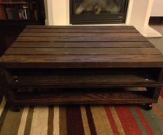 Pallet furniture instructions on pinterest pallet for Coffee table instructions
