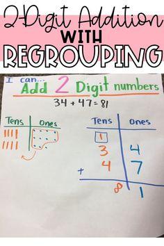 Addition Strategies, Addition Activities, Teaching Addition, Math Addition, Second Grade Math, Grade 2, Classroom Activities, Learning Activities, Math Meeting
