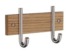Double Coat Hat & Rack in Polished Chrome Finish by Beslagsboden. $30.40. Hook height: 80 mm . 5.51 in. W x 1.57 in. D