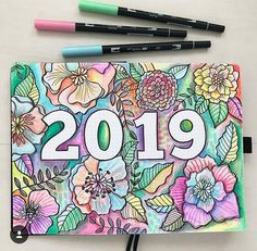 Top 15 Hello 2019 Bullet Journal Cover Pages March Bullet Journal, Bullet Journal Quotes, Bullet Journal Cover Page, Bullet Journal Ideas Pages, Bullet Journal Layout, Bullet Journal Inspiration, Wreck This Journal Cover, Journal Diary, Bullet Journals