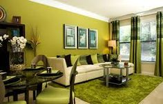 Green And Brown Living Room Apartment Touch Up Pinterest Rooms